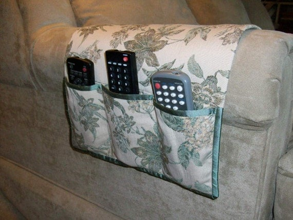 Remote Caddy - Floral Jacquard