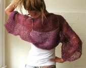 Burgundy Shrug, Burgundy haze kimono sleeved kid mohair shrug Ltd edition in this shade