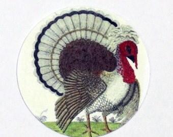 Vintage Style Turkey Thanksgiving Sticker Seals