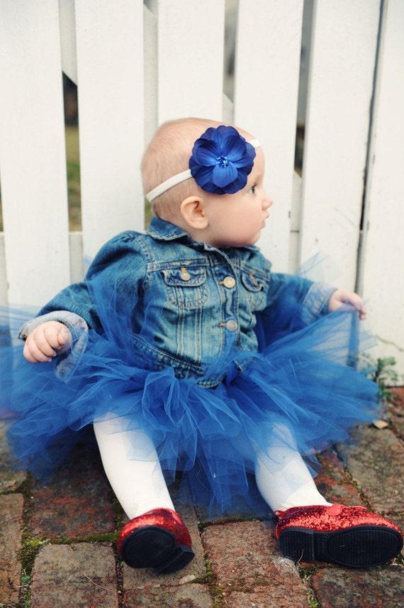 Sailor Kate Navy Blue Tutu Newborn-3 Month Double Layer Princess Fairy Party Skirt Photography Prop