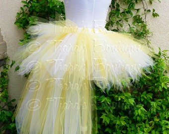 Tutu with Bustle - Adult Teen Pre-teen Tutu - Custom Sewn 13'' Pixie Tutu with Attached 24'' 3 Tiered Pixie Tutu Bustle
