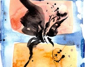 Brushstroke Butterfly 3  ... Original abstract water media art ooak painting by Kathy Morton Stanion  EBSQ