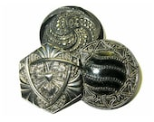 Antique Buttons Black Gla...