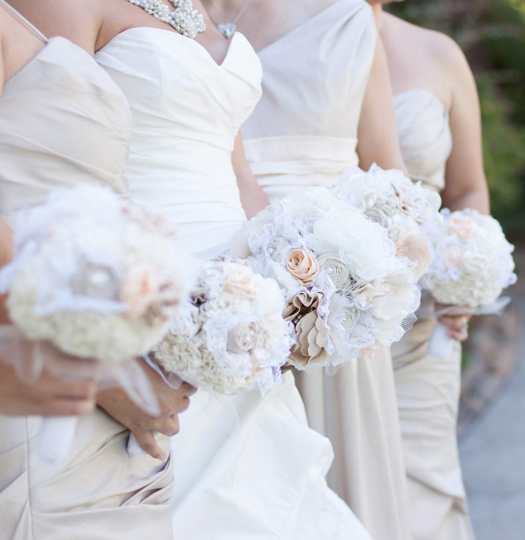 Bridal Bouquet Materials : Reserved bridal bouquet fabric flower