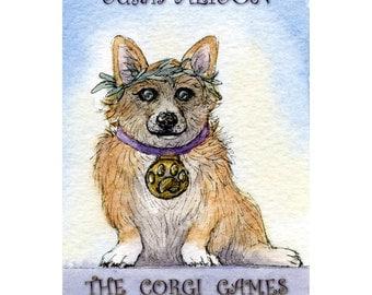 The Corgi Games - paperback book of illustrated doggerel
