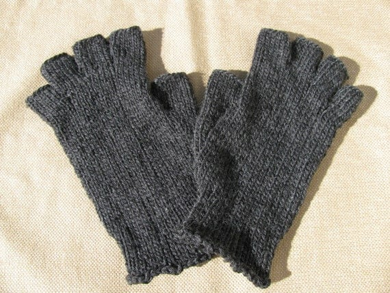 Mens Fingerless Gloves - Ready to Ship