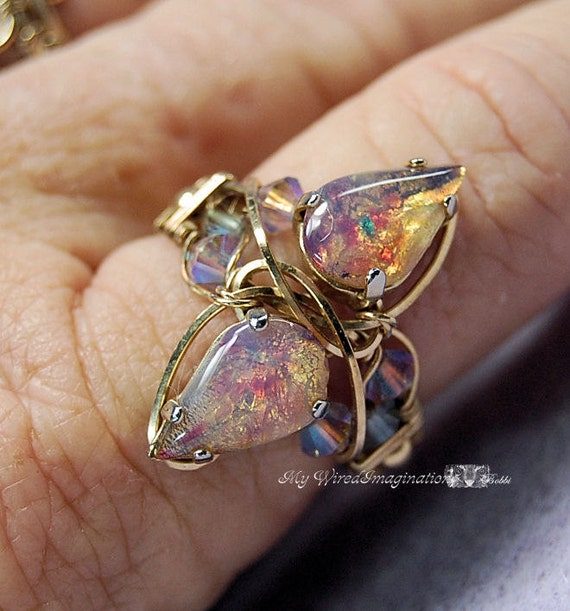 DIY Ring Pattern How to Make a wire Wrapped Ring Marcella Crystal Ring 2 Instant Download PDF File DIY Ring How to Make jewelry How To Pdf
