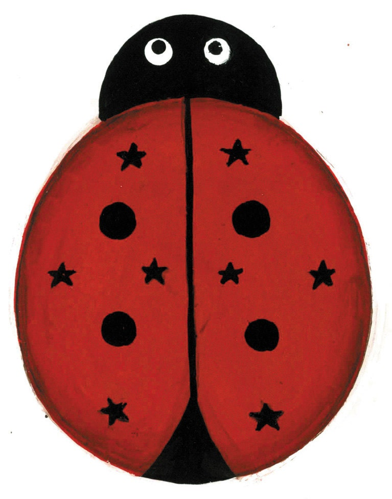 Pierced Tin Painted Metal LADYBUG Ornament by somethingspecialcraf
