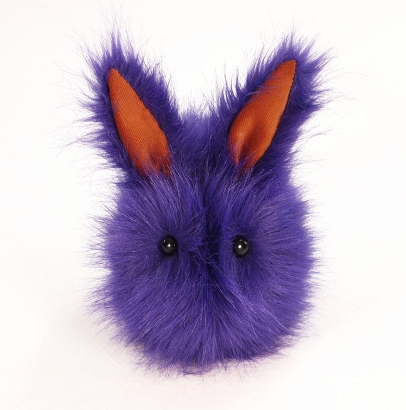 Reserved for Stephanie Victor the Violet Bunny Plush Stuffed Animal Momma Sized