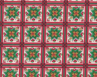 Christmas Patchwork Cotton Fabric, Last Chance.