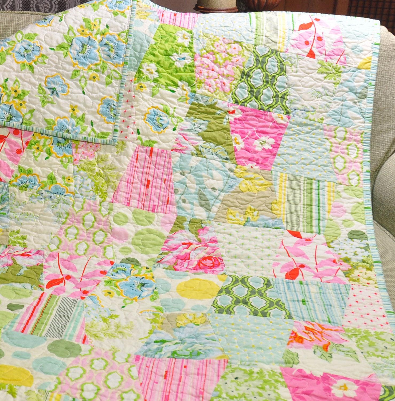 Baby Tumbler Quilt Girl Blanket Vintage Inspired By Biggiwink