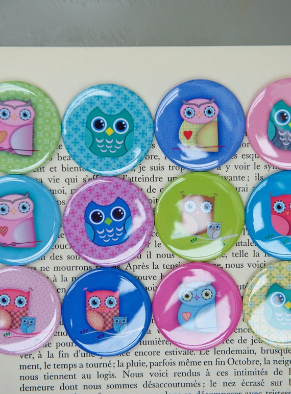 Pocket Mirror Cute Owls Owl Favors Owl Themed Baby Shower