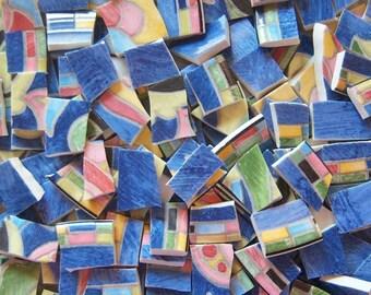Mosaic Tiles--- Villa Blue--100 Tiles