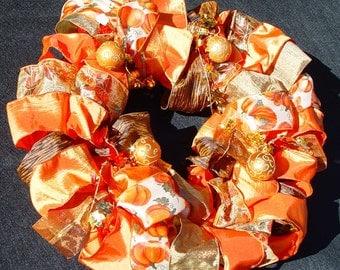 Medium Fall Ribbon Wreath