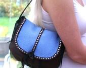 Leather Handbag-Leather Handbag Purse-Handcrafted Leather Handbags- Leather Shoulder Bags- Southwestern Style Handbags-Leather Purses