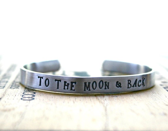 To The Moon & Back silver cuff bracelet