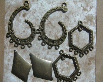 Bali Style Earring Drops 9 pair Very Cool