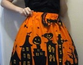 Black & Orange Pumpkintown Skirt