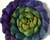Hand Dyed roving for spinning or felting Merlin 3.5ozs Pre-Order