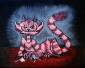 Cheshire Cat and The Tea Rat 8X10 print