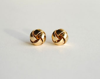 Everyday Gold Knot Earrings. Gold Stud Earrings. Love Knots. Gifts for Girlfriends. Bridesmaids Gift. Dainty Earrings. FREE Shipping in US