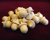 Bulk Pack of 25 Mini-Acorns, Unfinished Hardwood
