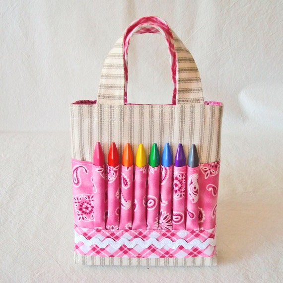ARTOTE MINI  Crayon Bag Crayon Tote Art Supply Coloring Tote in My Pretty Pony