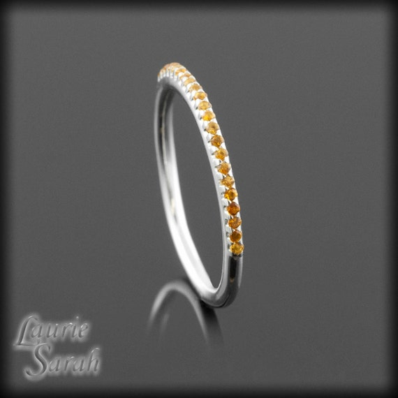 s ring citrine band in gold or platinum