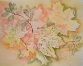 "Autumn Leaves-""A Sprinkling of Leaves""-Original Watercolor Painting"