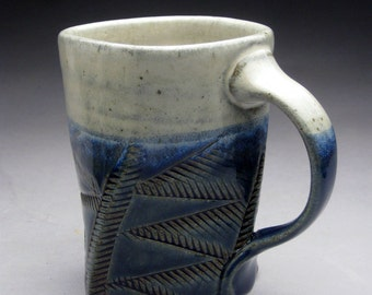 Twisted Stoneware Mug - Blue & White - Made to Order