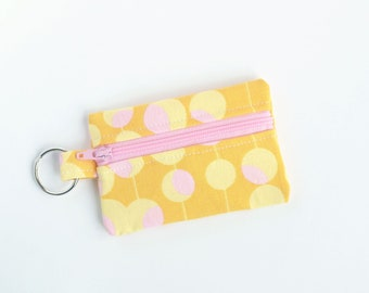 Small Zipper Pouch, Ear Bud Holder, Credit Card Case, Modern Martini