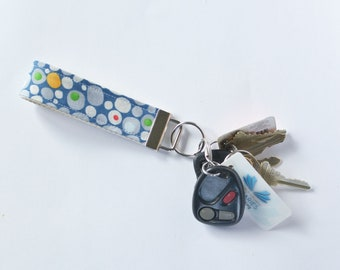 Key Fob in Ten Little Things Pebbles