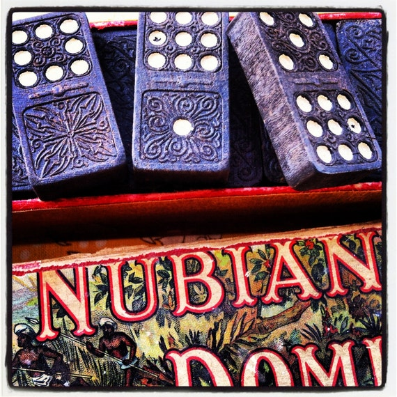 1920s Embossing Company's Double Nine Nubian Dominos