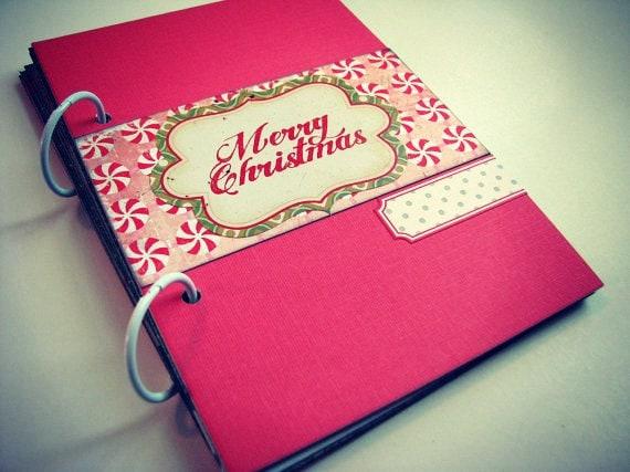 A Very Merry Christmas Premade Mini Album/Journal Ready to ship!
