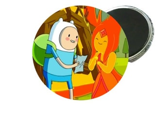 Magnet - Adventure Time Finn and Flame Princess  Image 2.25""