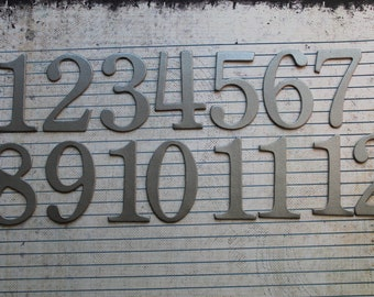 Numbers 1-12 matte platinum 2 inch tall SERIF chipboard numbers great for wedding table numbers