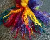 Wool locks sale buy 3 get 1 free  Mardi Gras separate curls hand-dyed 1 oz.