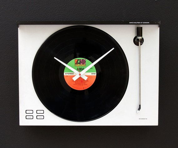 Recycled Bang Olufsen Turntable Clock