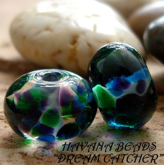 RESERVED LISTING For KATIESCRYSTALS - Earring Pairs -  4 Pairs of Handmade Lampwork Beads