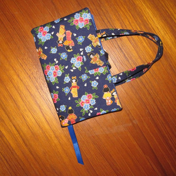 Japanese Fabric Book Cover : Paperback fabric book cover asian japanese by