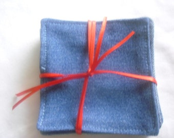 Coasters, Recycled Blue Jean Coaster Set