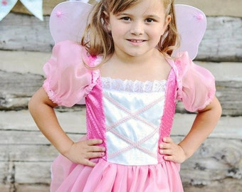 Cute Pink Fabulous Fairy Princess Tinkerbelle Costume Gown