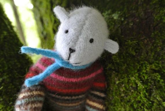 Pogo - Cleo, small wool bear, sustainable toy