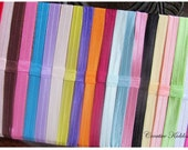 SALE Baby Interchangable Foe Satin Headbands for Hair Clips, Assorted Colors x 10
