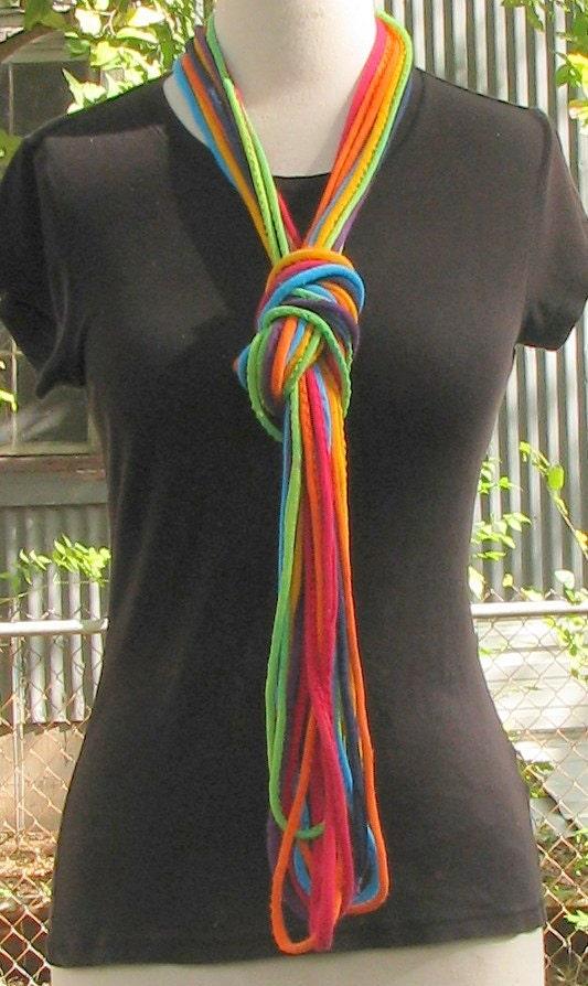 Tie Dye Hemp Cotton Jersey String Necklace By Inspiringcolor