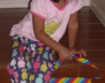 rainbow toddler purse