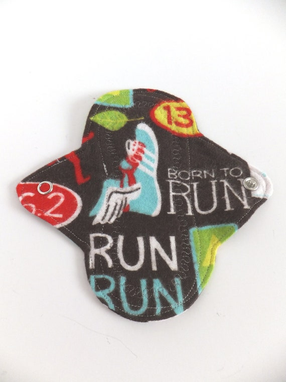 Mini Cloth Pantyliner / Pantiliner -- Running Woman Flannel -- Kiki Pad Inspired