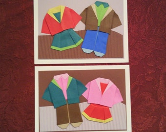 Don't Forget Your Jackets Origami Kidz Greeting Cards