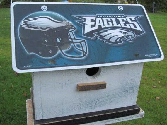 Philadelphia Eagles License Plate  Football  Birdhouse White Fully Functional