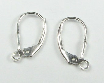 Sterling Silver Lever Back Ear Wires (1 pair)